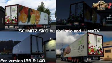 Reboque Schmitz SK.O v1.4 Para V.1.40.X - ETS2