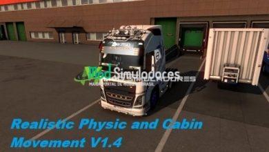 Físicas Realísticas e Movimentação da Cabine Para 1.39.X - ETS2