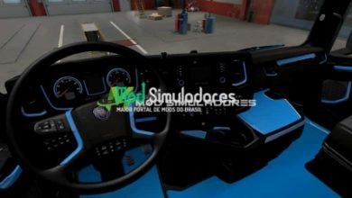 Interior Azul e Preto Scania 2016 Para 1.40.X - ETS2