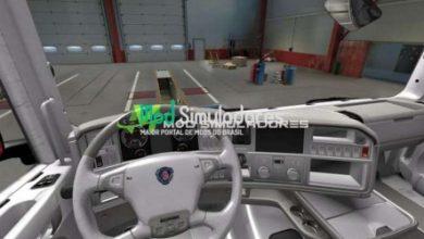 Interior Branco Scania R 2009 Para 1.40.X - ETS2