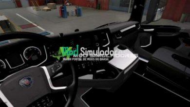 Interior Preto e Branco Scania 2016 Para 1.40.X - ETS2