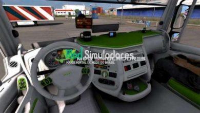 Interior Verde e Branco DAF 105 XF Para 1.40.X - ETS2