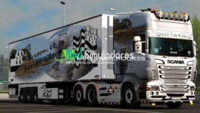 Pack de Skin Bretanha Scania RJL Para 1.39.X - ETS2