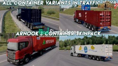 Skins Projeto Arnooks SCS Container v9.0 (1.40) ETS2